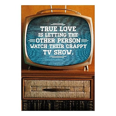 Hallmark Love Greeting Card, True Love is Letting the Other Person Watch Their Crappy TV Show (0349ZZF8090)