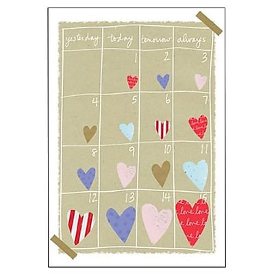 Hallmark Love Greeting Card, Yesterday Today Tomorrow Always (0395QUL3920)
