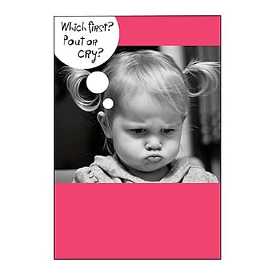 Hallmark Miss You Greeting Card, Which First? Pout or Cry? (0250QFR1629)