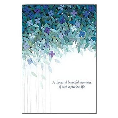 Hallmark Sympathy Greeting Card, a Thousand Beautiful Memories of Such a Precious Life (0250QSY1908)