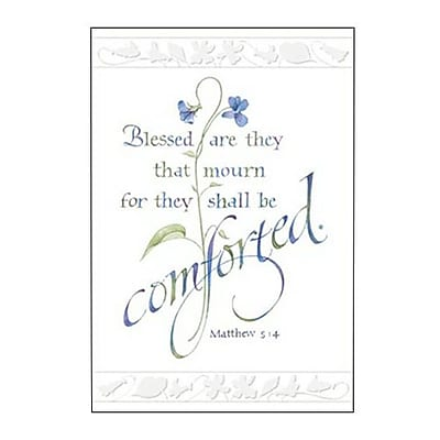 Hallmark Sympathy Greeting Card, Blessed are They that Mourn for They Shall be Comforted. Matthew 5:4 (0295QSY1965)
