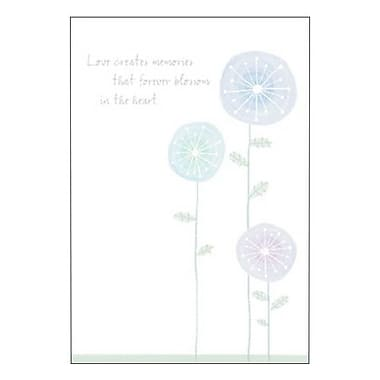 Hallmark Sympathy Greeting Card, Love Creates Memories that Forever Blossom in the Heart (0250QSY1902)