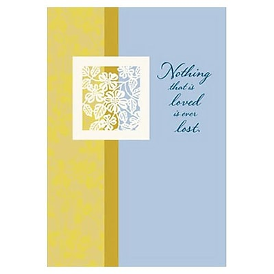 Hallmark Sympathy Greeting Card, Nothing that is Loved is Ever Lost (0595QSY1950)