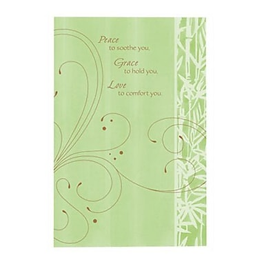Hallmark Sympathy Greeting Card, Peace to Soothe You?Grace to Hold You?Love to Comfort You (0395QSY1940)