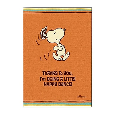 Hallmark Thank You Greeting Card, Thanks to You?I'm Doing a Little Happy Dance! (0295QTY2009)