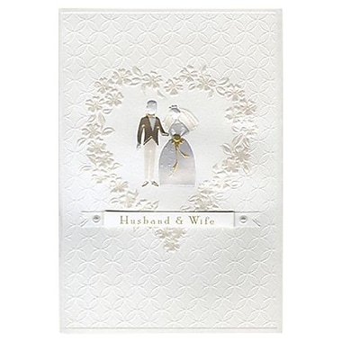 Hallmark Wedding Greeting Card, Husband & Wife (0595QUW4559)