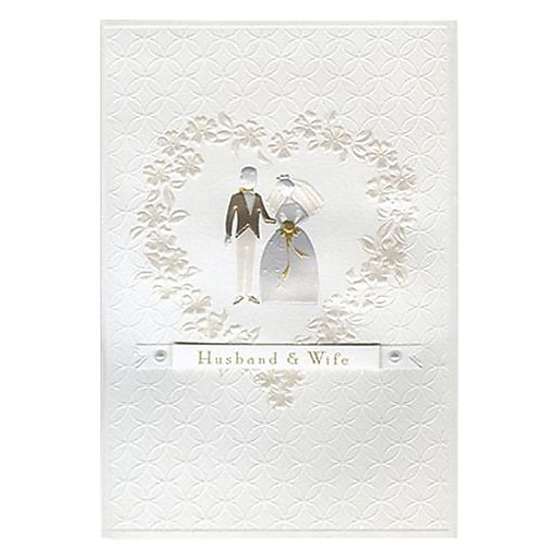 Hallmark Wedding Greeting Card Husband Wife 0595QUW4559 Staples 3p S7 Is