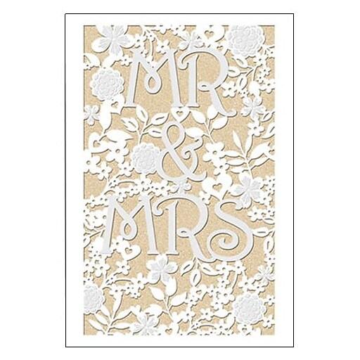 Hallmark Wedding Greeting Card, Mr & Mrs (0695QUW4531)