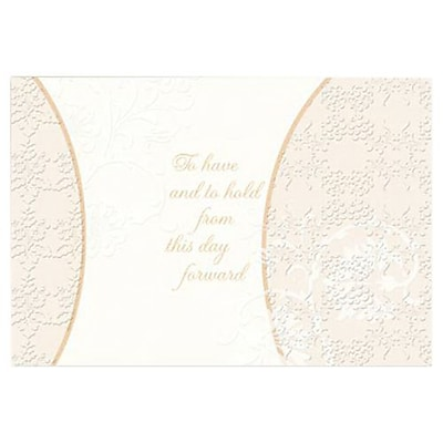 Hallmark Wedding Greeting Card, To Have and to Hold From This Day Forward (0295QUW4510)
