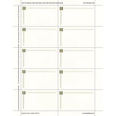 Royal Consumer Geographics Business Suites, Ivory/Gold Foil, 150/Pack (47367)