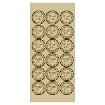 Royal Consumer Geographics Certificate Seals, Gold Foil, 56/Pack (48480)