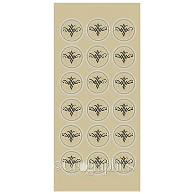 Royal Consumer Geographics Seals, Gold/Silver Foil, 54/Pack (47392)