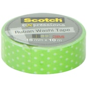 3M™ Scotch® Expressions Washi Tape, 11 yds., Green (C314-P31)