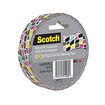 3M™ Scotch® Expressions Masking Tape, 20 yds., Brick (3437-P13)