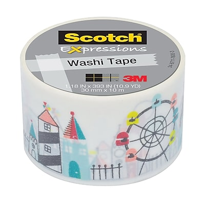 3M™ Scotch® Expressions Washi Tape, 10.9 yds., Carnival (C316-P3011)