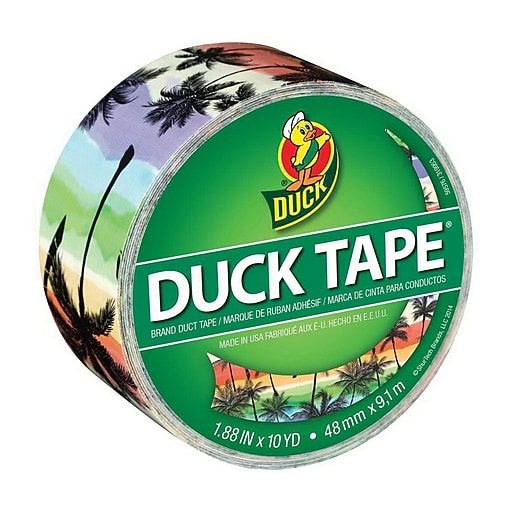 Duck® Printed Duct Tape, 10 yds. Multicolor (283930)
