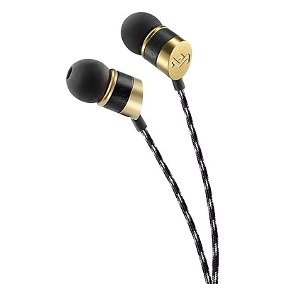House Of Marley EM-JE033-GN In-Ear Headphones with Mic, Grand