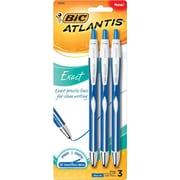 BIC® Fine Ballpoint Pen, 0.7mm, Blue, 3/Pack (VCGNP31-BLU)