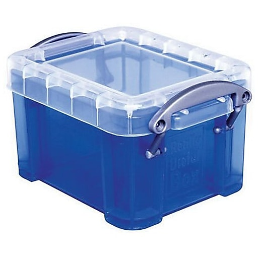 Really Useful 0.14 L Storage Box, Transparent blue (0.14TB)