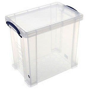 Really Useful 19 L Storage Box, Clear (19 LITRE CLEAR)