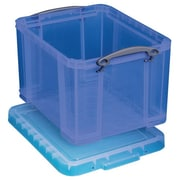 Really Useful 32 L Storage Box, Transparent blue (32TBL)