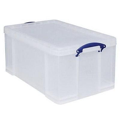 Really Useful 64 L Storage Box, Clear (64C)