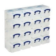 Really Useful 0.3 L Storage Boxes and Organiser, Clear (16X0.3CORG)
