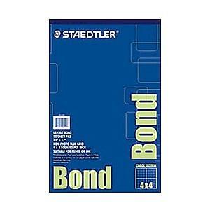 Staedtler Bond Paper White 50 Sheet/Pad (937 1117P4)
