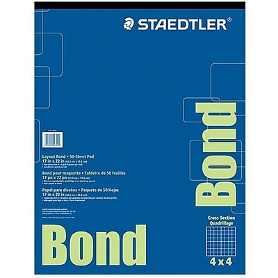 Staedtler Bond Paper White 50 Sheet/Pad (937 1722P4)