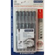 Staedtler Pigment Liner Sketch Pen (308SB6BK)