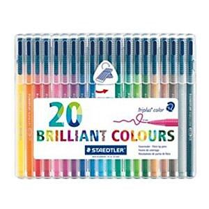 Staedtler Triangular Fibre Tip Pen Multicolor 20/Pack (323SB20BK)
