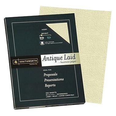 Southworth Antique Laid Business Paper, 8.5