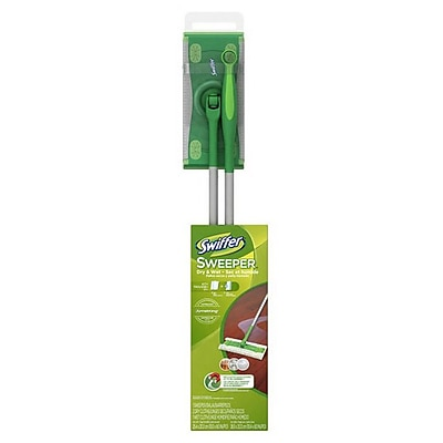 Swiffer® Sweeper 86078 2 in 1 Mop and Broom Floor Cleaner Starter Kit, Green