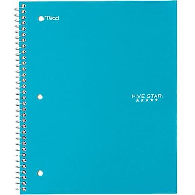 Mead Five Star Trend Wirebound Notebook, Wide Ruled, 10 1/2