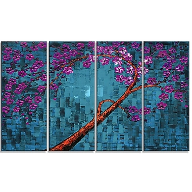Design Art Abstract Floral, 5 Piece Gallery-wrapped Canvas, (PT2003-271)