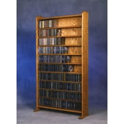 Wood Shed 1000 Series 830 CD Multimedia Storage Rack; Unfinished