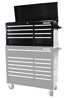 Excel 41.4''W 8-Drawer Top Chest; Black