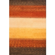 Momeni Desert Gabbeh Hand-Knotted Red/Yellow Area Rug; Runner 2'6'' x 8'