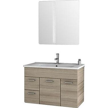 ACF Loren 32.7'' Single Bathroom Vanity Set w/ Mirror; Larch Canapa