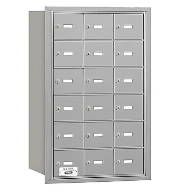 Salsbury Industries 18 Door Rear Load 4B Horizontal Mail Center; Aluminum