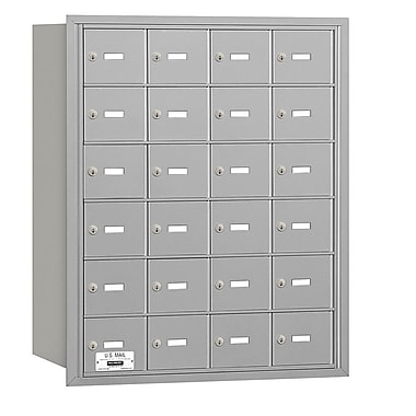 Salsbury Industries 24 Door Rear Load 4B Horizontal Mail Center; Aluminum
