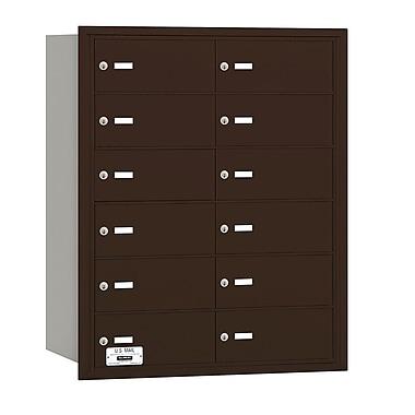 Salsbury Industries 12 Door Rear Load 4B Horizontal Mail Center; Bronze
