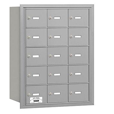 Salsbury Industries 15 Door Rear Load 4B Horizontal Mail Center; Aluminum
