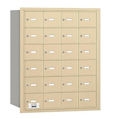 Salsbury Industries 24 Door Rear Load 4B Horizontal Mail Center; Sandstone