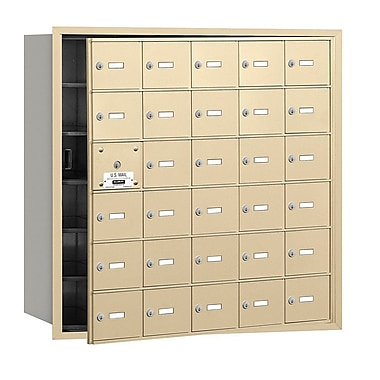 Salsbury Industries 30 Door Front Load 4B Horizontal Mail Center; Sandstone
