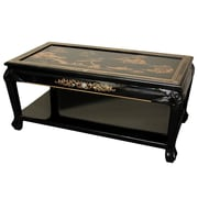 Oriental Furniture Coffee Table w/ Shelf