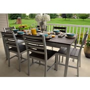 Elan Furniture Loft 72 x36'' Outdoor Dining Table; Gloss Silver