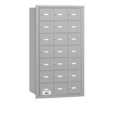 Salsbury Industries 21 Door Rear Load 4B Horizontal Mail Center; Aluminum