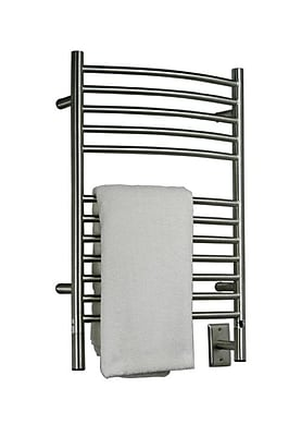Amba Jeeves Wall Mount Electric E Curved Towel Warmer; Brushed