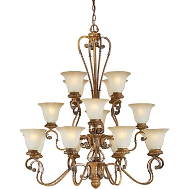 Forte Lighting 16-Light Shaded Chandelier
